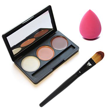 3 Concealer/Contour Makeup Brushes Face