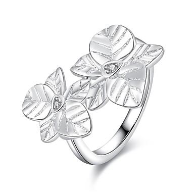 Damen Statement-Ring Silber versilbert Modisch Europäisch Party Modeschmuck