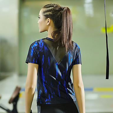 Naisten Lyhythihainen Juoksu T-paita Topit Nopea kuivuminen Kevät Kesä Syksy Nettikauppa Jooga Kuntoilu Kilpailu Juoksu Tactel