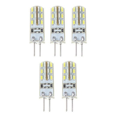 YWXLIGHT® 5pcs 1.5W 140 lm G4 LED Mısır Işıklar T 24*5 led SMD 3014 Doğal Beyaz DC 12V