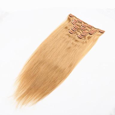 Clips på Menneskehår Extensions Lige Menneskehår Brasiliansk hår