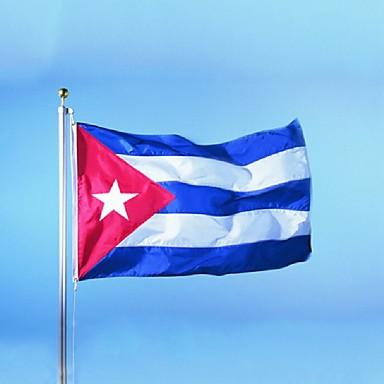 A kubai zászló poliészter zászló 5 * 3 láb 150 * 90 cm-es kiváló minőségű olcsó áron természetbeni forgatás nélkül (zászlórúd)