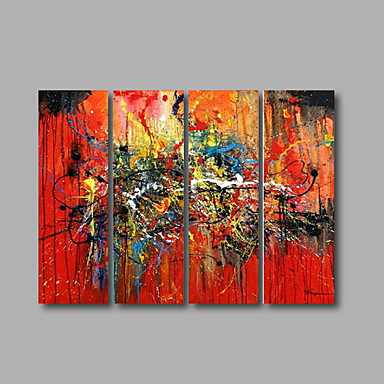 Hang festett olajfestmény Kézzel festett - Absztrakt Modern Vászon
