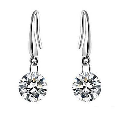 Women's Zircon Cubic Zirconia Drop Earrings - Bridal Elegant Silver Jewelry Earrings For Wedding Party Daily