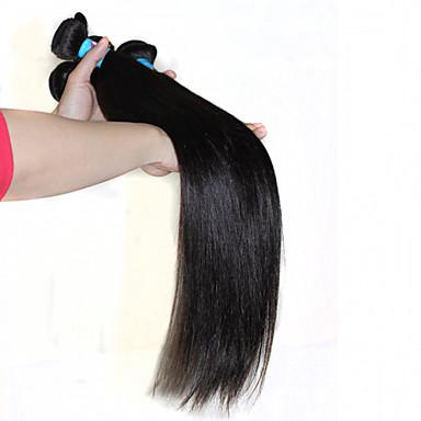 Υφάνσεις ανθρώπινα μαλλιών Περουβιανή Drept 12 μήνες 3 Κομμάτια υφαίνει τα μαλλιά