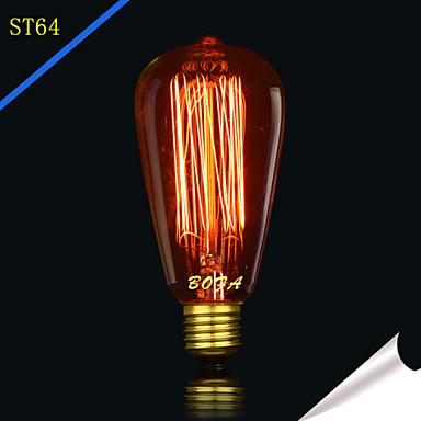 bofa st64 13ak 40w antiikki edison silkkipallon kuplamalaisin (85v-265v)