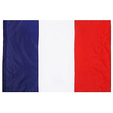 דגלי צרפת 100% פוליאסטר 5ft x דגל 3ft צרפת כרזות חוצות 150x90cm מקורה עבור הדגל חגיגה גדולה