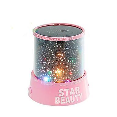 (3 AA 배터리에 의해 구동 임의의 색상,) 별이 빛나는 밤 하늘 프로젝터 다채로운 LED 야간 조명