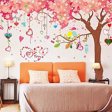 Botanisk Romantik Mote Veggklistremerker Fly vægklistermærker Dekorative Mur Klistermærker Materiale Kan fjernes Hjem Dekor