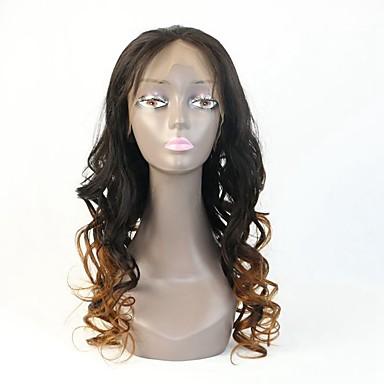 שיער אנושי פאה תחרה גלי תחרה מלאה חזית תחרה חלק קדמי תחרה ללא דבק ללא דבק, תחרה מלאה 100% קשירה ידנית פאה אפרו-אמריקאית שיער טבעי 130%