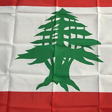 3x5 láb libanon zászló 90 * 150cm világ zászlók események fél fesztivál felvonulás felvonó lakberendezési