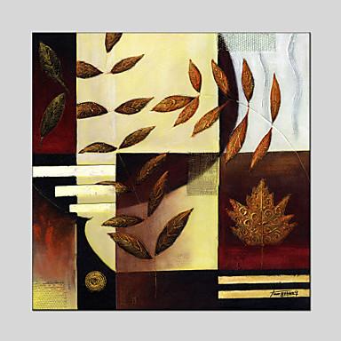 Maalattu AbstraktiEuropean Style / Moderni / Classic / Perinteinen / Pastoraali 1 paneeli Kanvas Hang-Painted öljymaalaus For