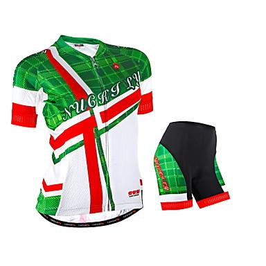 Nuckily Camisa com Shorts para Ciclismo Mulheres Manga Curta Moto braço aquecedores Camisa/Roupas Para Esporte Shorts Conjuntos de Roupas