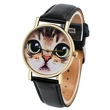 Damen Quartz Armbanduhr Armbanduhren für den Alltag Leder Band Elegant Modisch Schwarz Weiß Braun Grün Rosa