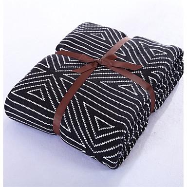 Strick Wie im Bild,Garnfärbung Geometrisch 100% Baumwolle Decken 150*200cm(59