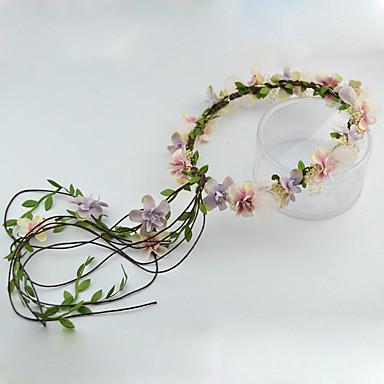 Damen Blumenmädchen Stoff Kopfschmuck-Hochzeit Besondere Anlässe im Freien Kränze 1 Stück