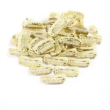 neitsi® 80pcs u-forma encaixar grampos grampos metálicos para extensões de cabelo diy clip-on (32,8 centímetros, preto, marrom, amarelo)