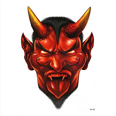 8db hamis vízátvezetéseket ideiglenes tetoválás matrica kék gonosz ember démon stílusú női férfi body art tatoo halloween