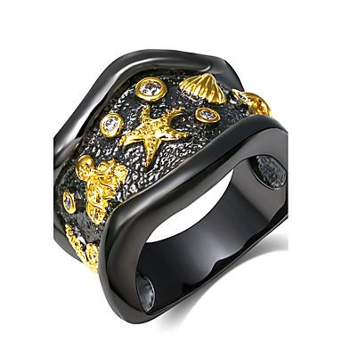 uttalelse Ringe Mote Vintage Bohem Stil Punkestil Bedårende 18K gull Geometrisk Form Smykker Til Bryllup Fest Daglig Avslappet 1 stk
