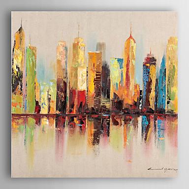 handgemaltes Ölgemälde Landschaft Stadtlandschaften mit gestreckten Rahmen 7 Wand ARTS®