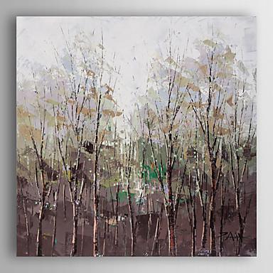 handgemaltes Ölgemälde Landschaft Dickicht mit gestreckten Rahmen 7 Wand ARTS®