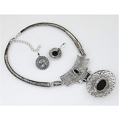 Mulheres Conjunto de jóias - Resina Vintage, Europeu, Fashion Incluir Brincos em Argola / Colar / Brincos Prata Para Festa / Diário / Casual / Colares