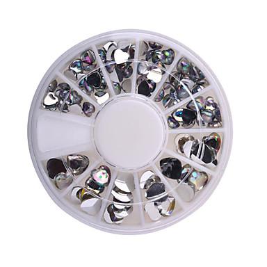mote kvinner 3d nail art dekorasjoner kjærlighet hjerte motiv DIY glitter hjulet spiker rhinestones