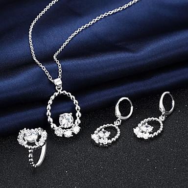 Schmuck Halsketten Ohrringe Ringe Künstliche Perle Hochzeit Party Alltag Normal 3 Stück Damen Silber Hochzeitsgeschenke