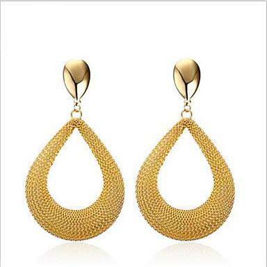 Brinco Forma Geométrica Jóias 1 par Fashion Pesta / Diário / Casual Aço Inoxidável Feminino Dourado