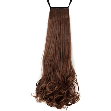 povoljno Perike i ekstenzije-Konjski repići Kose za kosu Kovrčav Klasika Sintentička kosa 18 inča Srednja dužina Ugradnja umetaka Dnevno