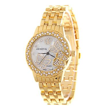 בגדי ריקוד נשים קווארץ שעון יד מכירה חמה מתכת אל חלד להקה פרפר אופנתי כסף זהב זהב ורד