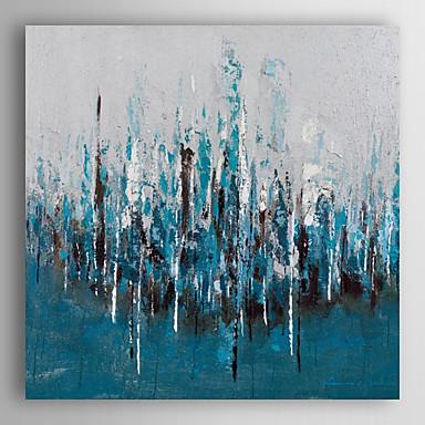 floresta azul óleo pintados à mão pintura de paisagem com moldura esticada arts® 7 parede