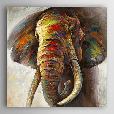 handgemaltes Ölgemälde Tier sanft Elefant mit gestreckten Rahmen