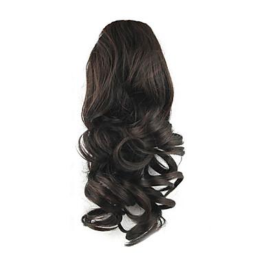 Correa Coletas Elástico Pelo sintético Pedazo de cabello La extensión del pelo Rizado