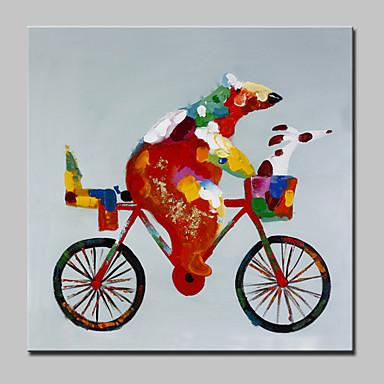 Handgemalte Tiere Quadratisch, Modern Segeltuch Hang-Ölgemälde Haus Dekoration Ein Panel