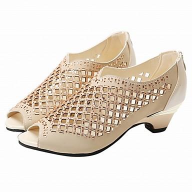 נעלי נשים-סנדלים-דמוי עור-נעלים עם פתח קדמי / גלדיאטור / פתוח-שחור / Almond-משרד ועבודה / שמלה / קז'ואל / מסיבה וערב-עקב נמוך