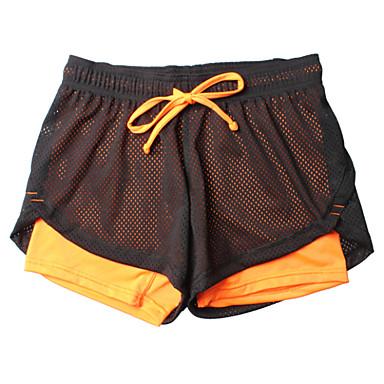 Femme Shorts de Course Respirable Doux Lisse Compression Bas Exercice & Fitness Course/Running Orange S M L XL