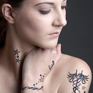 5 Tattoo Aufkleber Schmuck Serie / Tier Serie / Blumen Serie / Totem Serie / Cartoon-Serie Non Toxic / Muster / WaterproofDamen / Herren