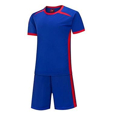 Herre Fotball Skjorte + shorts Klessett Bunner Fort Tørring Pustende Vår Sommer Vinter Høst Klassisk Terylene Trening & Fitness