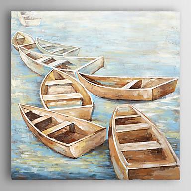 handgemaltes Ölgemälde Landschaft ruhigen Übergang Boot mit gestreckten Rahmen 7 Wand ARTS®