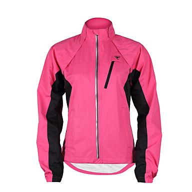 TASDAN Női Kerékpáros kabát Bíbor / Sárga / Rózsaszín Kollázs Bike Viharkabátok / Zakó / Felsők Vízálló, Légáteresztő, Fényvisszaverő