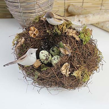 1 Une succursale Rotin Autres Fleur de Table Fleurs artificielles