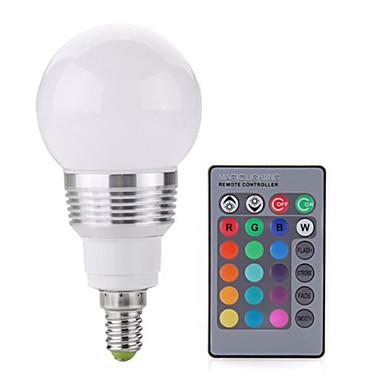 2 W 250 lm E14 LED gömbbúrás izzók A60(A19) 1 led COB Tompítható Dekoratív Távvezérlésű RGB AC 85-265V