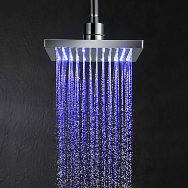 צבע 8inch הוביל שינוי ראש מקלחת מרובע - כסף