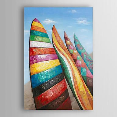 prancha colorida óleo pintados à mão pintura de paisagem com moldura esticada arts® 7 parede