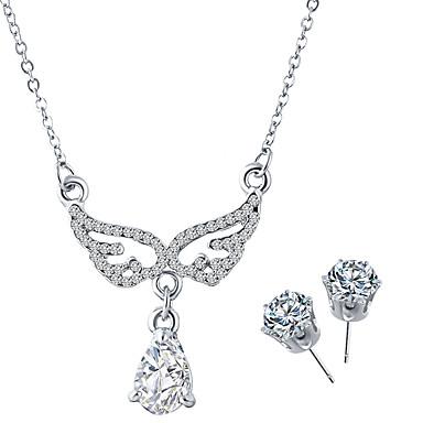 נשים סט תכשיטים שרשרת / עגילים אופנתי קריסטל אבן נוצצת סגסוגת שרשראות עגילים עבור חתונה Party יומי קזו'אל מתנות חתונה