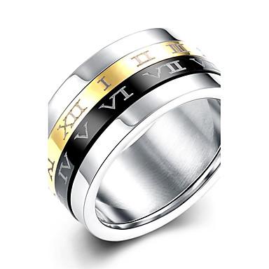 בגדי ריקוד גברים מונוגרמות טבעת הטבעת / טבעת הצהרה / טבעת - מוזהב, מצופה כסף, כסוף צִיצִית, בוהמי, פאנק 7 / 8 / 9 צבעים מגוונים עבור חתונה / Party / יומי
