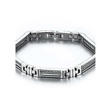 Homme Chaînes & Bracelets Thérapie Magnétique Acier inoxydable Acier au titane Bijoux Pour Quotidien Décontracté Regalos de Navidad