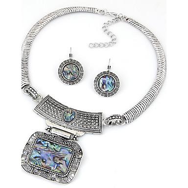 Schmuck Halsketten / Ohrringe Halskette / Ohrringe Vintage Party / Alltag / Normal 1 Set Damen Silber Hochzeitsgeschenke