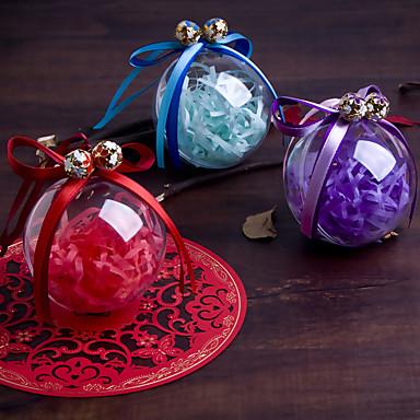 Balle Plastique Titulaire de Faveur avec Noeud Boîtes à cadeaux Boîtes Cadeaux Bocaux à Bonbons et Bouteilles